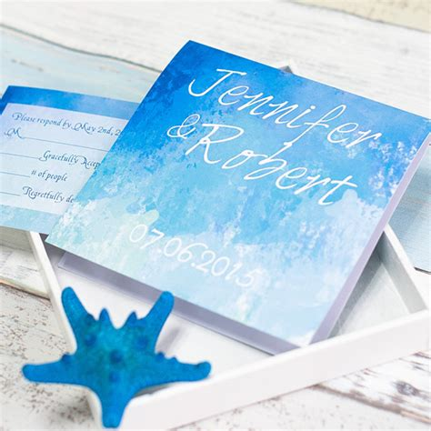 Summer Wedding Invitations by Starfish Folded Summer Wedding Invitation Ewri029 As