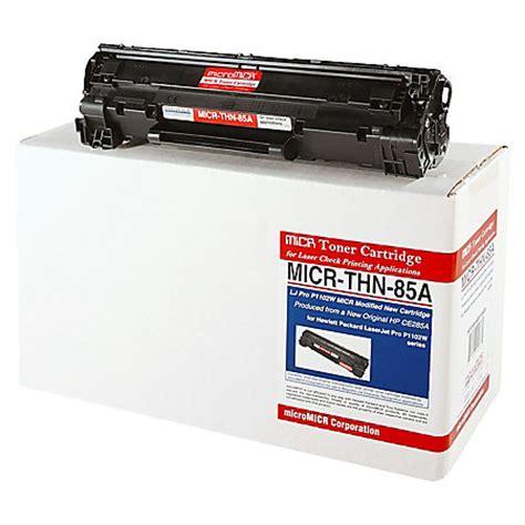 Toner Hp Ce285a 85a Black micromicr thn 85a hp ce285a black micr toner cartridge by