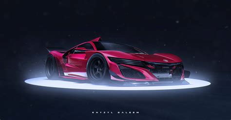 2016 Honda NSX Rendered as Crazy Le Mans Racer!   GTspirit