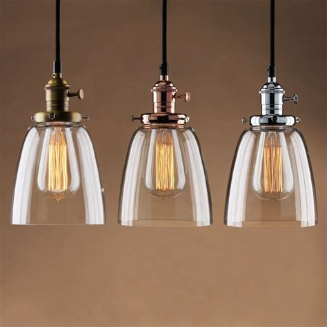 glass kitchen light fixtures details about adjustable vintage industrial pendant lamp