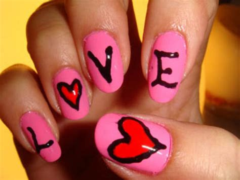 pictures of nail designs for valentines day magnificent s day nail designs