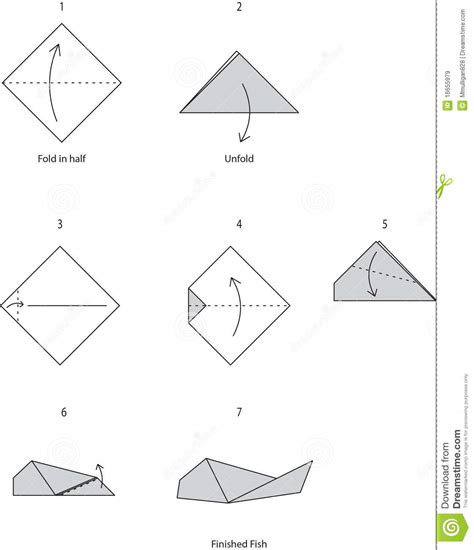 Origami Fish Step By Step - origami fish royalty free stock images image 16655979