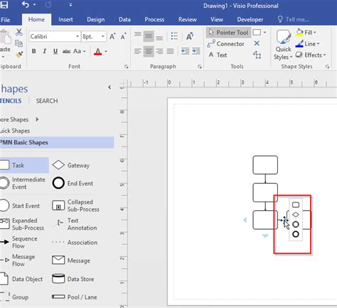 automate visio visio 2016 shapes for bpmn diagrams do not show tooltip