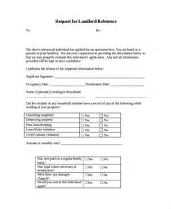 Landlord Tenant Letter Templates by Sle Work Reference Letter For Landlord Cover Letter