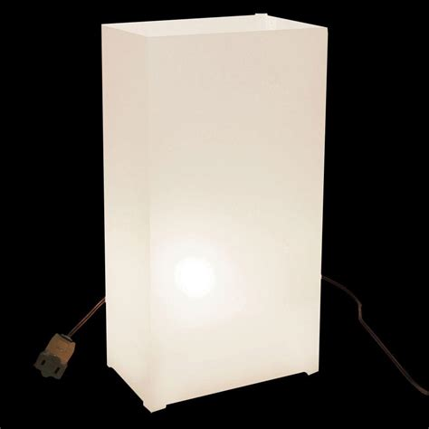 lumabase white electric luminaria kit set of 10 32010
