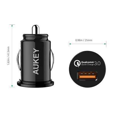 Aukey Charger Single Usb Port Charge 3 0 Wall Charger Pa T9 T19 6 aukey cc t13 18w single port qualcomm charge 3 0 car
