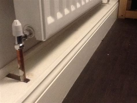 bathroom pipe cover has anyone hidden radiator pipes behind skirting board