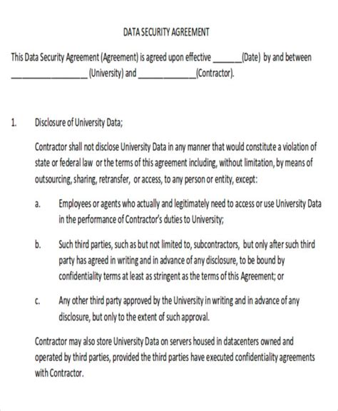 10 Sle Data Confidentiality Agreements Sle Templates Data Privacy Agreement Template