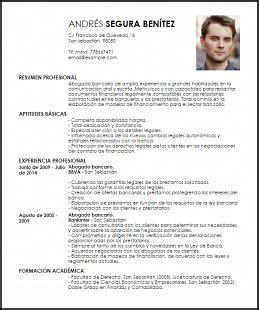 Plantilla Curriculum Para Abogado Modelo Curriculum Vitae Abogado Bancario Livecareer