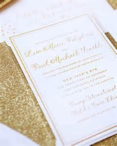 paul s gold new year s wedding invitations