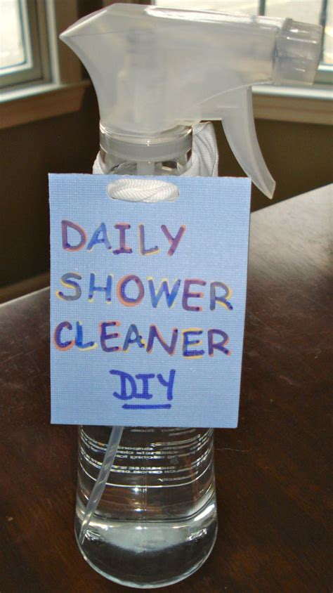 daily shower cleaner diy for the home