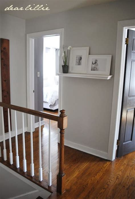progress in the upstairs hallway by dear lillie wall color matte finish moonshine bm and