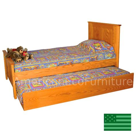 amish trundle bed solid wood usa made children s