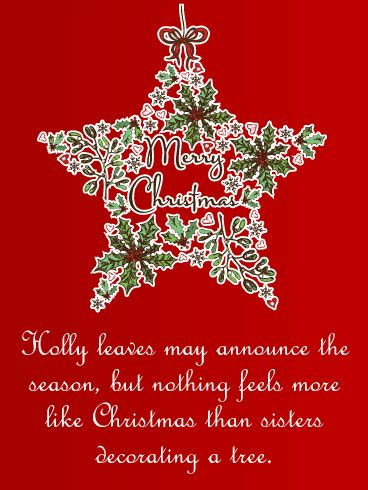 merry christmas sister quotes  sayings   wishes