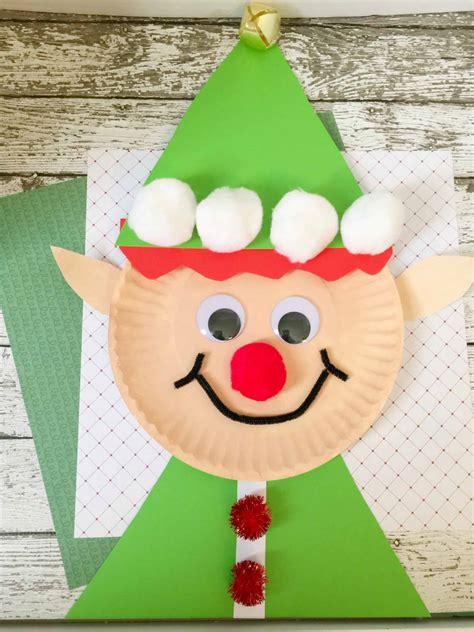 christmas elf paper plate craft  kids