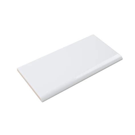 ceramic subway tile white glossy 3x6 bullnose mineral tiles