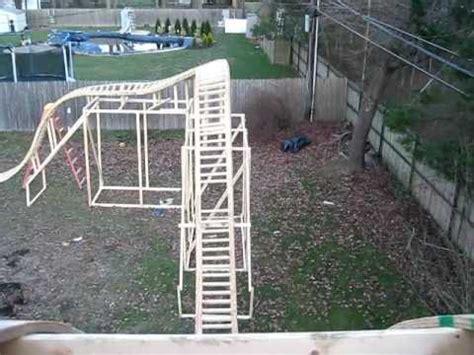 backyard pvc roller coaster my backyard roller coaster pov 12 13 11 youtube