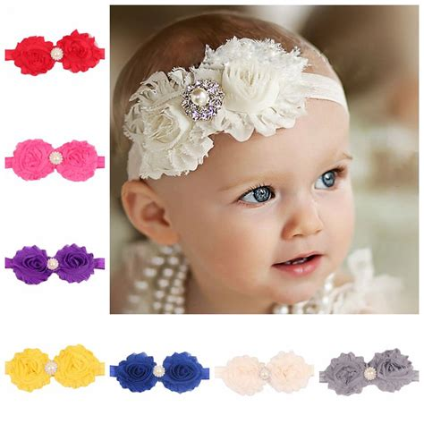6 Beautiful Floral Headbands For And Summer by Newborn Baby Headbands Shabby Chic Flower Hairband