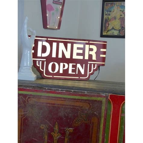 american lighting and signalization red american wall diner sign light up box
