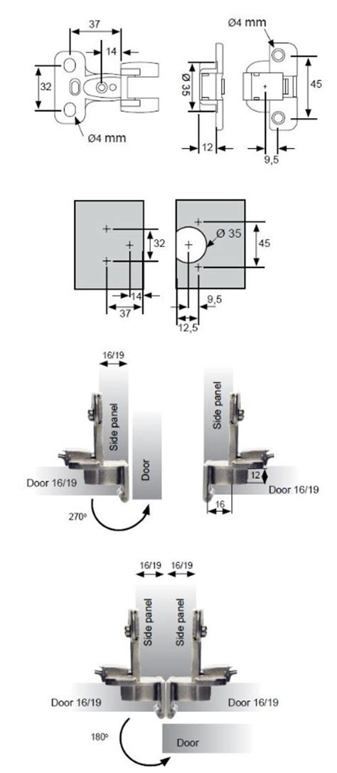 270 Degree Cabinet Hinge   Cabinet Hinges   Unico Components
