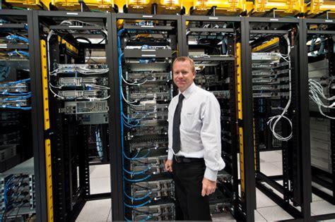 blur system administrator technology data center stock photo