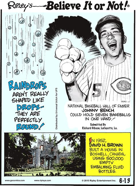 johnny bench seven baseballs cartoon 06 13 2015 ripley s believe it or not