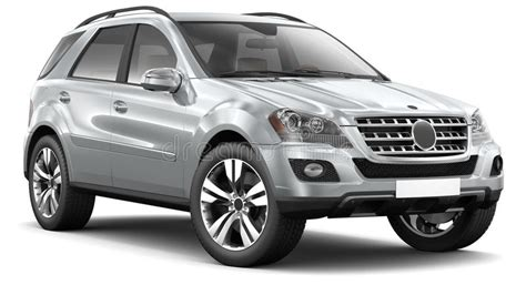 modern silver suv car royalty  stock  image