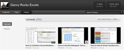 best excel tutorial youtube most viewed excel videos the company rocks