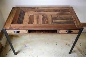 Handmade Home Decors diy pallet desk with 2 drawers study desk 101 pallets