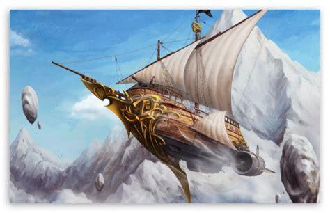 boat fly definition flying ship 4k hd desktop wallpaper for