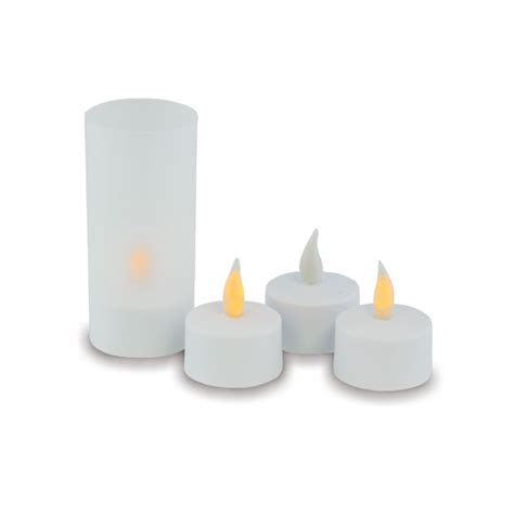 flameless rechargeable tea light candles