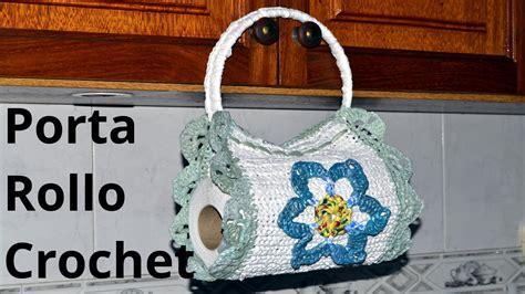 Porta Rollo Para Cocina A Crochet | como tejer un porta rollo cocina en tejido crochet o