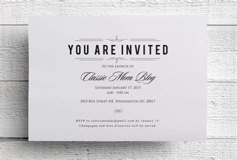 formal business invitation card template event invitation designs free premium templates
