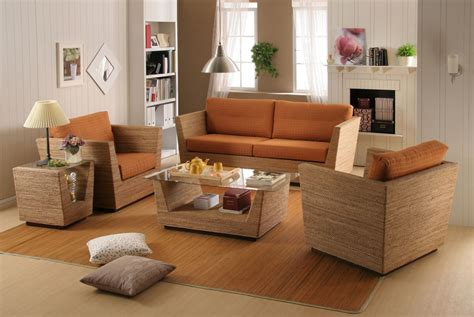 Bamboo Living Room Furniture Featured Appealing Rattan Living Room Design Rattan With Table And Sofa Synthetic Rattan