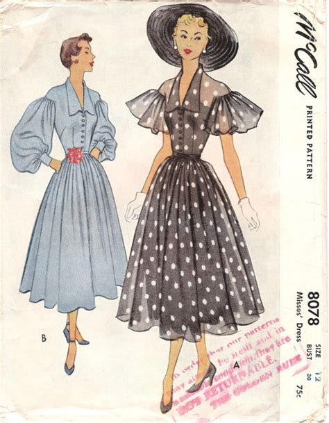 Black Retro Pattern Dress 25669 mccall 8078 vintage sewing patterns fandom powered by wikia