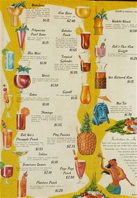 Tiki Hut Menu Tiki Cocktail Culture On Vintage Tiki