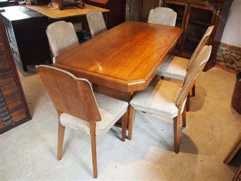 Antique Dining Table And Chairs Dining Table And Chairs Deco Walnut C1925 Antiques Atlas