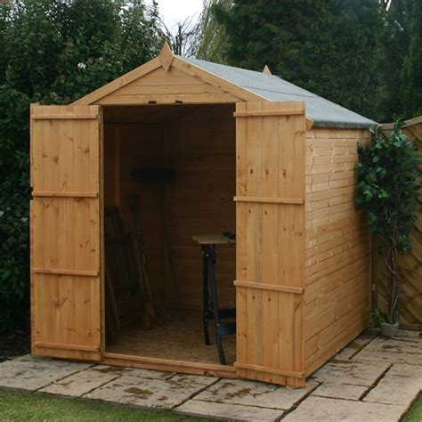 Tongue And Groove Or Overlap Shed by 10 X 8 Windowless Value Overlap Apex Wooden Shed With Doors 10mm Solid Osb Floor 48hr Sat