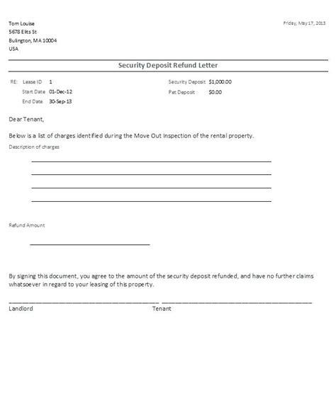 free security deposit receipt form template rent and security deposit receipt security deposit refund