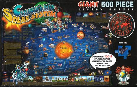 Puzzle Solar World Map dino s solar system 500 puzzle by dino maps