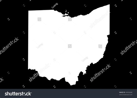 State Of Ohio Search State Of Ohio Black Background Stock Photo 44456848
