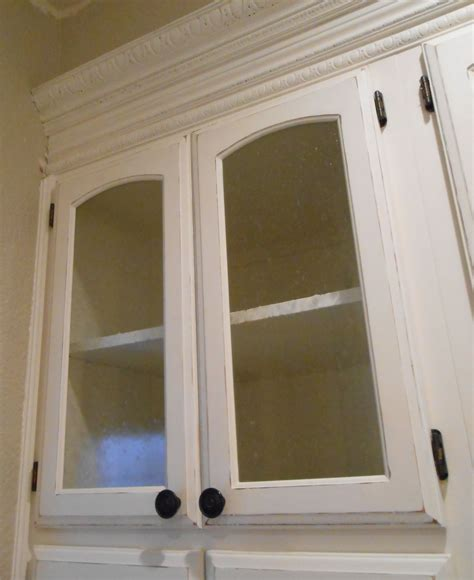 Diy Changing Solid Cabinet Doors To Glass Inserts Simply Cabinet Door Glass Inserts