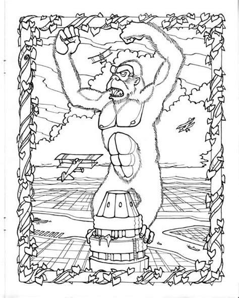 Coloring Page King Kong by King Kong Coloring Page By Savee King Kong