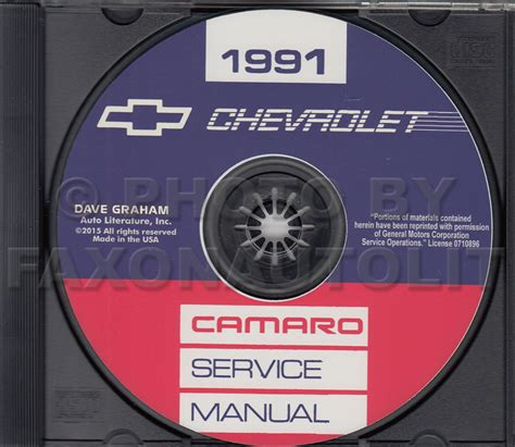 service and repair manuals 1997 chevrolet camaro spare 1991 chevrolet camaro repair shop manual cd