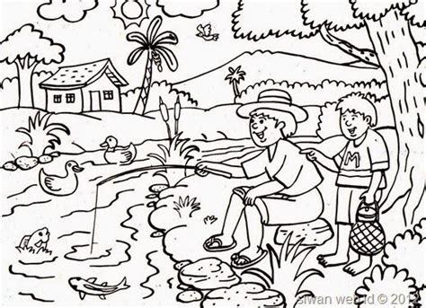 gambar pemandangan kartun hitam putih images