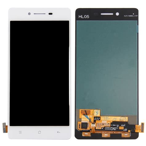 Lcd Oppo 3 A11w Complete With Touchscreen replacement oppo r7 lcd screen touch screen digitizer assembly white alex nld