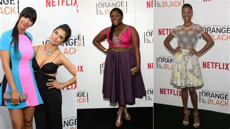 Premier Overall Set Dress By Maritza fab dresses and bold at the premiere of orange is the new black