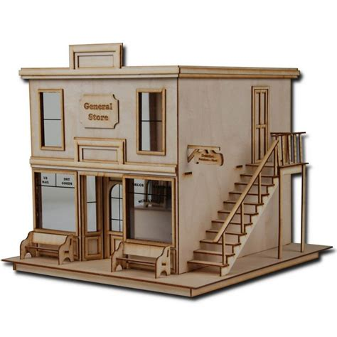 doll house store 1 2 quot scale dollhouse kit laser cut taft general store miniatures dollhouses pop