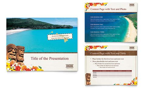 hawaii travel vacation brochure template word u0026
