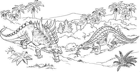kaempfende dinos ausmalbild amp malvorlage tiere